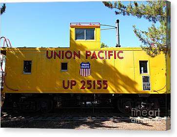 Union Pacific Caboose - 5d19206 Canvas Print by Wingsdomain Art and Photography