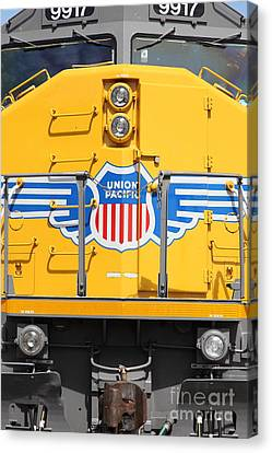 Union Pacific Locomotive Train - 5d18645 Canvas Print by Wingsdomain Art and Photography
