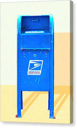 United States Postal Service Mail Box . Snail Mail Canvas Print by Wingsdomain Art and Photography