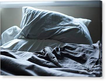 Unmade Bed Canvas Print by Sam Bloomberg-rissman