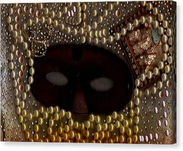 Unmask You Masquerades Dont Last Forever Canvas Print by Pepita Selles
