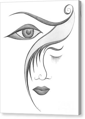 Unnamed Sketch 03 Canvas Print by Joanna Pregon