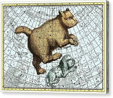 Ursa Major Constellation, Bode Star Atlas Canvas Print by Detlev Van Ravenswaay