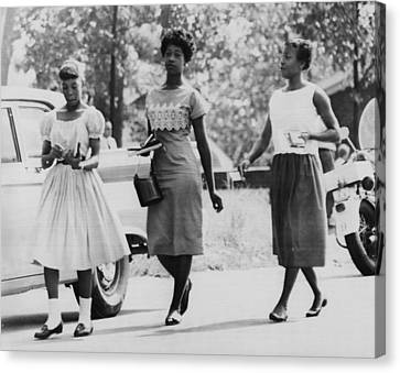 Us Civil Rights. From Left Integrated Canvas Print by Everett