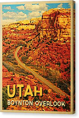 Utah Boynton Overlook Canvas Print by Flo Karp