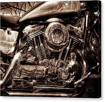 V-twin Canvas Print by Steven Arens
