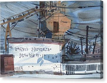 Vacuum Repair Canvas Print by Donald Maier