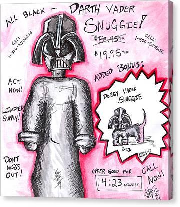 Vader Shnuggie Ad Canvas Print by Jera Sky