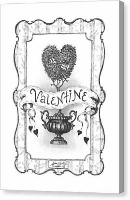 Valentine Canvas Print by Adam Zebediah Joseph