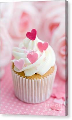 Valentine Cupcake Canvas Print by Ruth Black