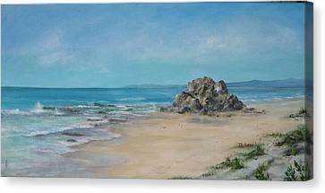 Valla Beach Canvas Print by Rita Palm