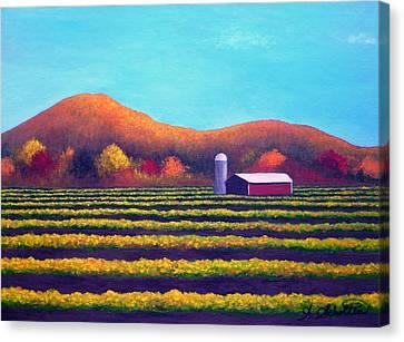 Harvest Valley Of Abundance Canvas Print by Amy Scholten