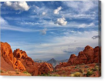 Valley Of Fire Nevada - A Must-see For Desert Lovers Canvas Print by Christine Till