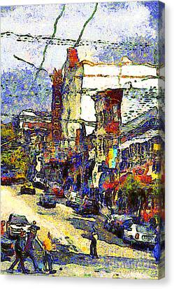 Van Gogh Takes The Right Turn And Rediscovers The Castro In San Francisco . 7d7572 Canvas Print by Wingsdomain Art and Photography