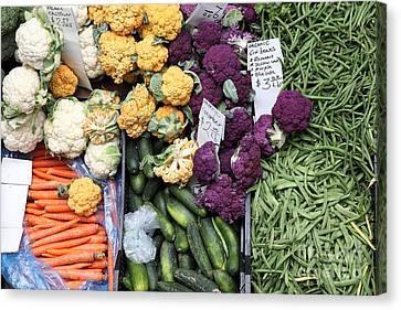 Variety Of Fresh Vegetables - 5d17900 Canvas Print by Wingsdomain Art and Photography