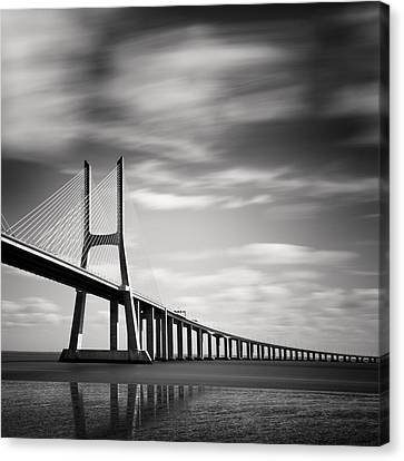 Vasco Da Gama Bridge IIi Canvas Print by Nina Papiorek