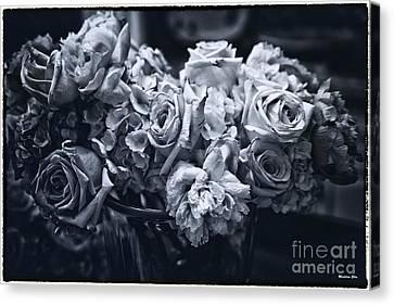 Vase Of Flowers 2 Canvas Print by Madeline Ellis