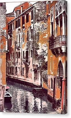 Venetian Serenity Canvas Print by Greg Sharpe