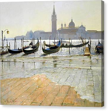 Venice At Dawn Canvas Print by Timothy Easton