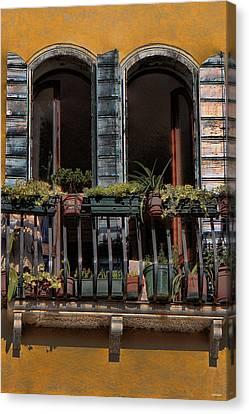 Venice Balcony Canvas Print by Tom Prendergast