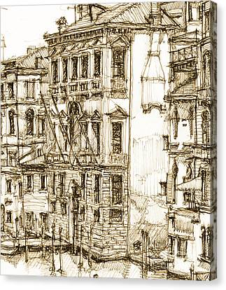 Venice Canals Detail 1 Canvas Print by Adendorff Design