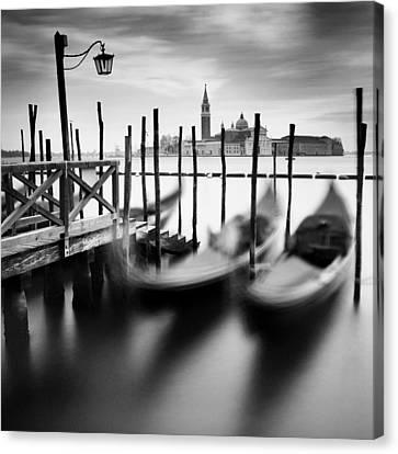 Venice Gondolas Canvas Print by Nina Papiorek