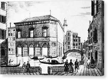 Venice: Teatro La Fenice Canvas Print by Granger
