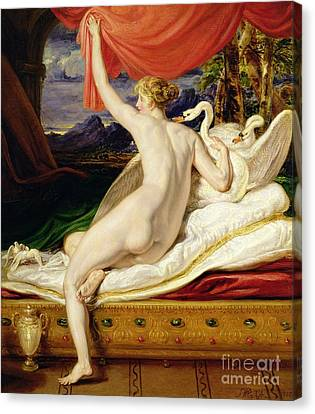 Venus Rising From Her Couch Canvas Print by James Ward