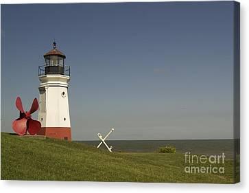 Vermilion Lighthouse - 1287 Canvas Print by Chuck Smith