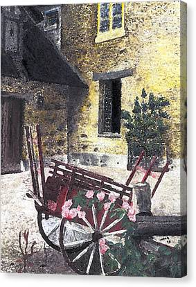 Versailles Peasant Village Canvas Print by Inger Hutton