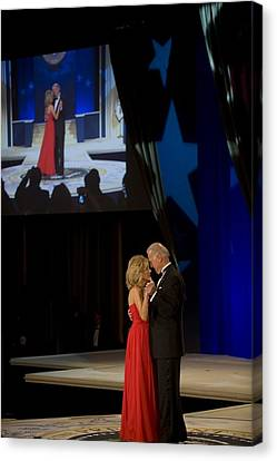 Vice President Joe Biden And Dr. Jill Canvas Print by Everett