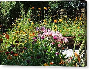 Victorian Summer Garden Canvas Print by Theresa Willingham