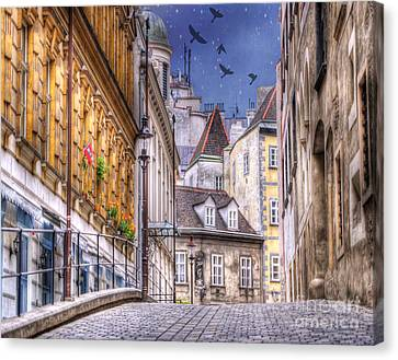 Vienna Cobblestone Alleys And Forgotten Streets Canvas Print by Juli Scalzi