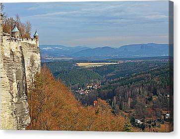 View From Koenigstein Fortress Germany Canvas Print by Christine Till