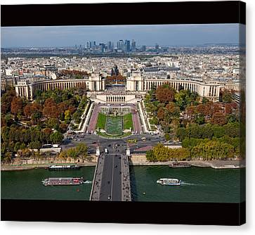 View From The Second  Floor Of Eiffel Tower Canvas Print by Anna A. Krømcke
