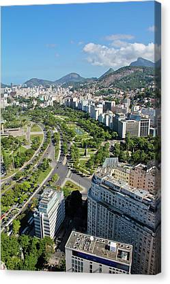 View Of Aterro Do Flamengo Canvas Print by Ruy Barbosa Pinto
