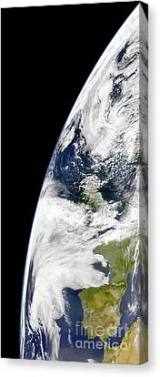 View Of Earth From Space Showing Canvas Print by Stocktrek Images