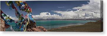 View Of Freshwater Lake Manasarovar Canvas Print by Phil Borges