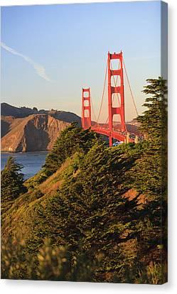 View Of Golden Gate Bridge San Canvas Print by Stuart Westmorland