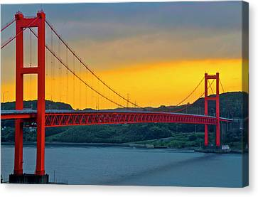 View Of Hirado Bridge Canvas Print by Kurosaki San