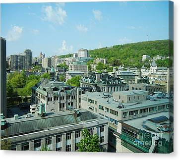 View Of Montreal  From Royal Victoria College Canvas Print by Reb Frost