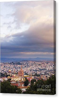 View Of Old World City Canvas Print by Jeremy Woodhouse