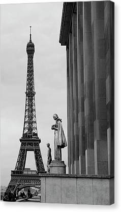 View Of Paris France With Eiffel Tower Canvas Print by Win Initiative