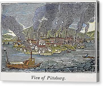 View Of Pittsburgh, 1836 Canvas Print by Granger