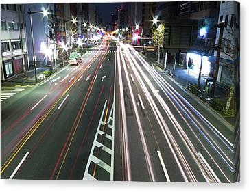 View Of Traffic At Nihonbashi, Tokyo, Japan Canvas Print by Billy Jackson Photography
