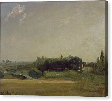 View Towards The Rectory - East Bergholt Canvas Print by John Constable