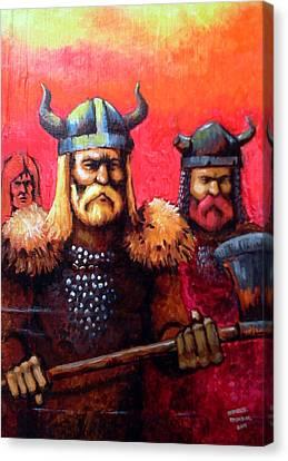 Vikings Canvas Print by Edzel marvez Rendal