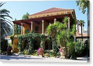 Villa Lafabreque Prades France Canvas Print by Marilyn Dunlap