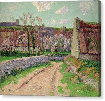 Village In Clohars Canvas Print by Henry Moret
