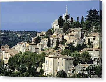 Village Of Bonnieux. Provence Canvas Print by Bernard Jaubert